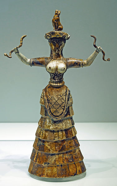 wikipedia.org:wiki:Minoan_ snake_goddess_figurines378px-Heraklion.jpg